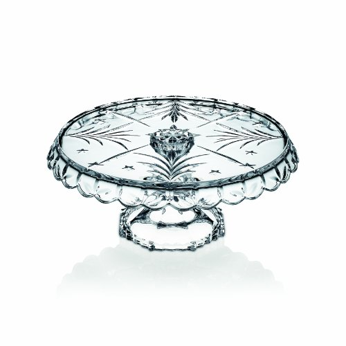 Celebrations by Mikasa Christmas Night 11-Inch Glass Footed Cake Plate