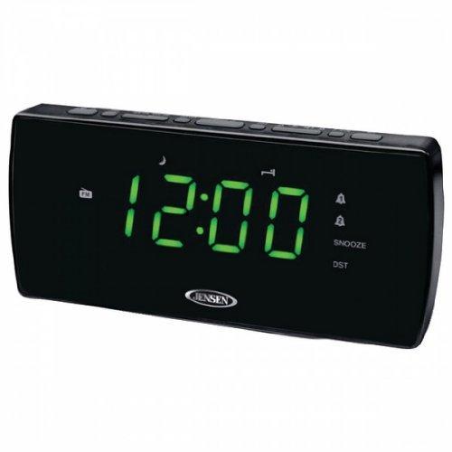 "Spectra Merchandising Am/Fm/Pll 1.2"" Green Display Dual Alarm Clock"