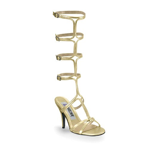 Funtasma By Pleaser Women'S Roman-10 Sandal,Gold Pu,14 M Us front-224768