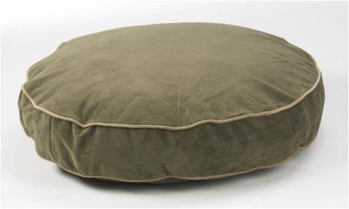 Bowser Supersoft Round Dog Bed-Mushroom Microvelvet-Medium