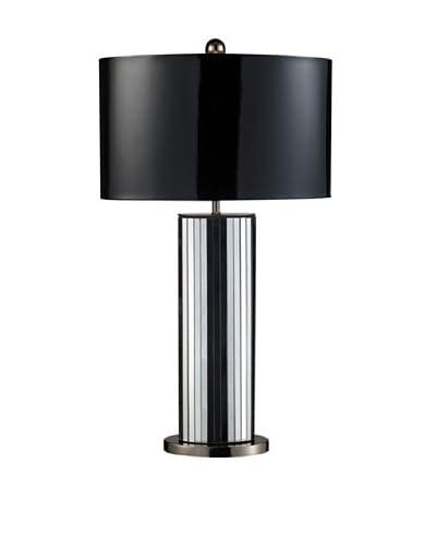 Artistic Lighting Shreve Table Lamp, Mirror/Black