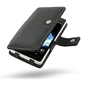 Sony Xperia TX Leather Case - LT29 - Book Type (Black) by Pdair by PDair