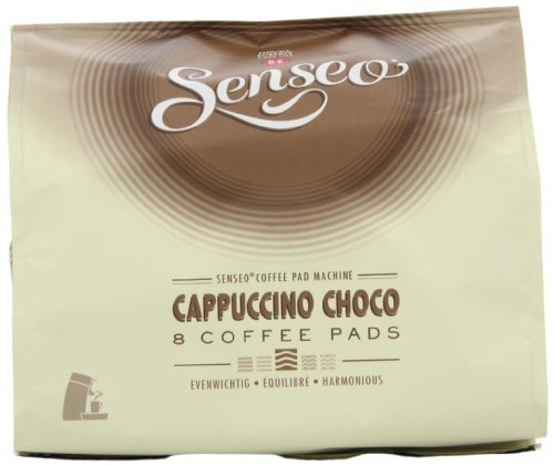 Douwe Egberts Senseo Cappuccino Chocolate Coffee Pods (Pack of 4, Total 32 Pods)