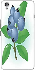 Snoogg Blueberry Vector Designer Protective Back Case Cover For One Plus X / ...