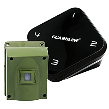 1/4 Mile Long Range Wireless Driveway Alarm- Top Rated Outdoor Weatherproof Motion Sensor & Detector- Best DIY Security Alert System- Monitor & Protect Outside Property, Yard, Garage, Gate, Pool.