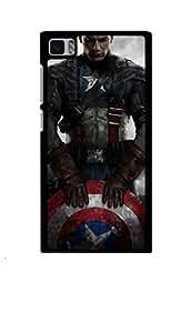Caseque Energe Captain America Back Shell Case Cover For Xiaomi Mi3