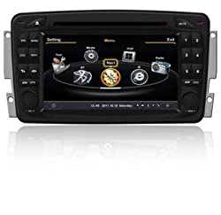 See Top-Navi Car DVD GPS Navigation For Mercedes Benz Old C Class W203 2000-2004 A8 Chipset 3G Wifi Bluetooth Radio RDS Free Map Details