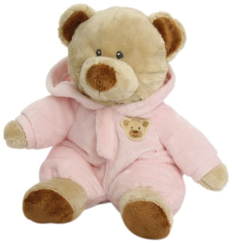 "Ty Pluffies Pj Bear 9"" Pink"