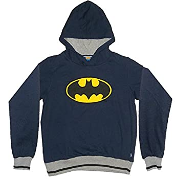 LIMITED EDITION: DC COMICS JUSTICE LEAGUE Jungen Batman Hoodie 12 dunkel Blau