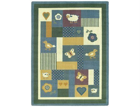 "Joy Carpets Kid Essentials Infants & Toddlers Baby Love Rug, Soft, 3'10"" x 5'4"""