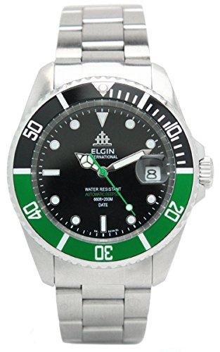 [エルジン]ELGIN 腕時計 2014年限定モデル オートマチック ダイバーズモデル 200M防水 グリーン FK531S-GR3 メンズ