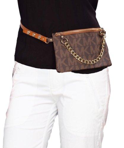 Michael Kors Women'S Mk Logo Belt Bag-Chocolate