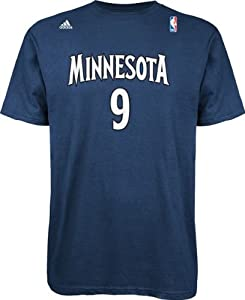 Ricky Rubio Minnesota Timberwolves NBA Adidas NBA Player T-Shirt - Blue by adidas