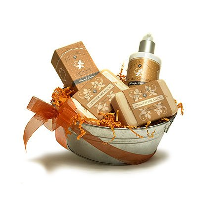 L'Epi de Provence French Soap - Hand Cream - Body Cream Gift Basket - Ginger Orange