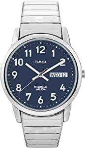 Timex Men's T20031 Easy Reader Silver-tone Expansion Band Watch: Watches: Amazon.com