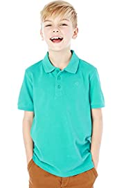 Pure Cotton Piqu Polo Shirt with Stay New&#8482;