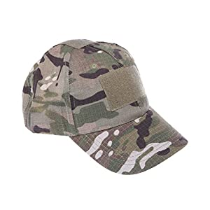 GSshop Adult Velcro Molle Designed Cotton Tactical Camo Baseball Cap for Outdoor Sports of Fishing Hiking Hunting Climbing Golf Traveling