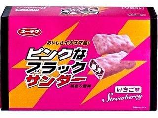 【東京・期間限定】ピンクなブラックサンダー 桃色の雷神 いちご味 18袋入り