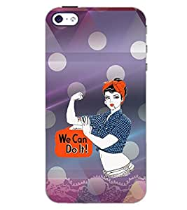 PrintDhaba QUOTE D-6282 Back Case Cover for APPLE IPHONE 5 (Multi-Coloured)