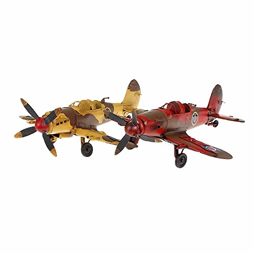 Metal Model Aeroplane x Height Approx. 26 cm x 24 cm x 7 cm yellow