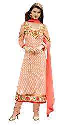 Texclusive Women's Brasso Dress Material(texsufiya4_Multicolored_Free Size)