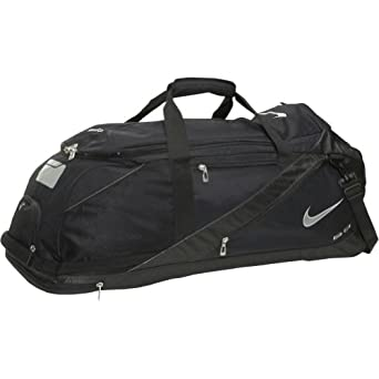 Amazon.com : Nike Fuse Roller Wheeled Locker Bag with Dugout Organizer