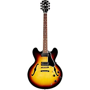 Gibson Custom ES-335 Dot Electric Guitar, Vintage Sunburst, Plain Maple