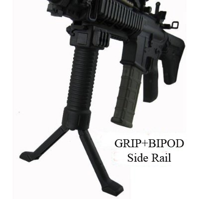 Military Law Enforcement Steel Inserted Leg Mil Spec Polymer Composite Grip+Bipod+side Rail