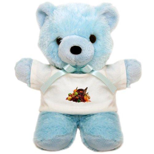 Teddy Bear Blue Thanksgiving Cornucopia W