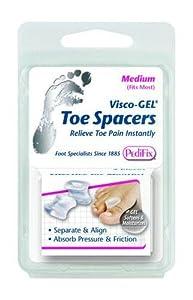 Visco-Gel Toe Spacer (Medium, Pack of 2)