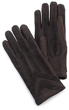 Isotoner Men&#39;s Spandex Glove With Suede Palm Strips