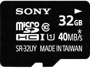 Sony 32GB Class 10 Micro SDHC R40 Memory Card (SR32UYA/TQMN)