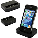 Horiya Accessories Black Dock Cradle Sync & Charger Station With 3.5mm Line Out for Apple iPhone 4S / 4 / 3GS / 3G & iPod Touch 4th /3rd/ 2nd Generation (64GB, 32GB, 16GB, 8GB)