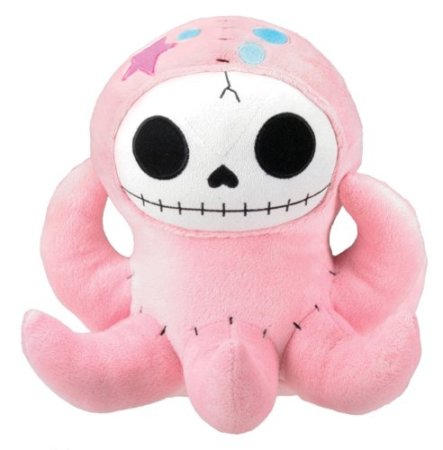 Pink Octopus Octopee Furry Bones Collectible Stuffed Plush Doll