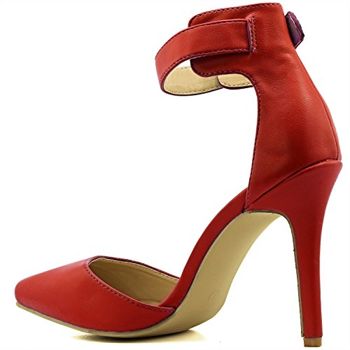 Women's Pointed Toe Ankle Buckle Strap Evening Party Dress Casual Sandal Shoes, 10