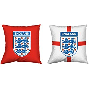 England Football Heat Transfer Red White Blue Filled Reversible Cushion