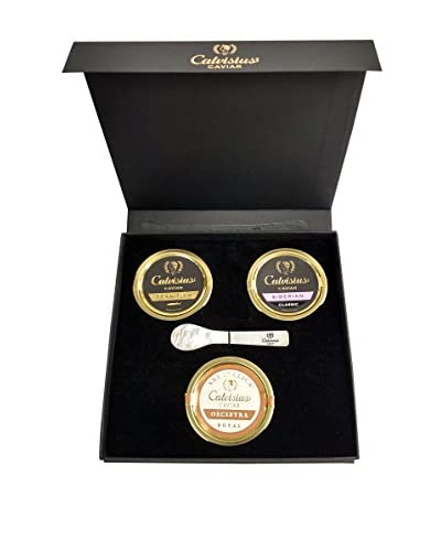 Calvisius Caviar Set of 3 50-Gram Tins in Gift Box