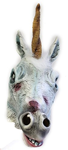 Forum Novelties Deluxe Latex Zombie Unicorn Mask