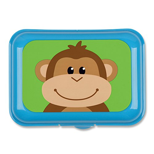 Stephen Joseph Monkey Snack Box, Light Blue - 1