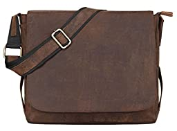 LEADERACHI Adult 100% Pure Genuine Leather Handmade Messenger Bag One Size Muskat