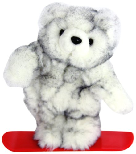 "Purr-Fection Fresca Junior Snowboard White Bear 9"" Plush"
