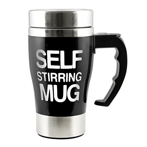 Tera 350Ml Hot Stainless Plain Lazy Self Stirring Mug Auto Mixing Tea Coffee Cup Office Home Gift Novelty With Tera Dust Cloth