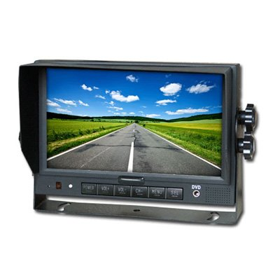 "7"" LCD Color Rear View Backup System Monitor (Black) by Copilot Vision"