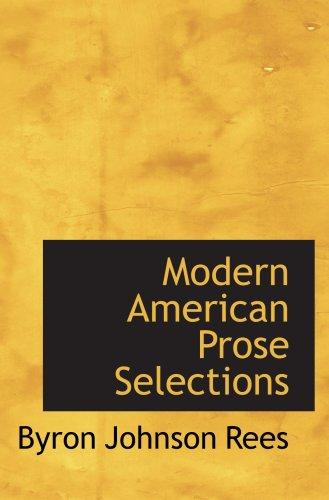 Moderne amerikanische Prosa-Auswahl