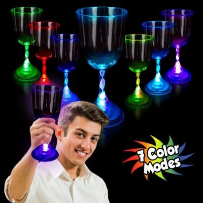Multicolor Led Wine Glass 10 Oz.