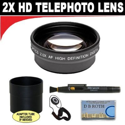 2X Digital Telephoto Professional Series Lens + Lens Adapter Tube (If Needed) + Lenspen + Lens Cap Keeper + Db Roth Micro Fiber Cloth For The Sony Cybershot Dsc-V3 Digital Camera