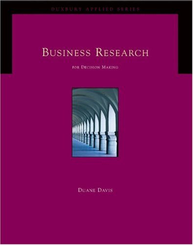 business research for decision making For example, a business would use market research to assess the viability   what's more, some decision-makers may be competitors, and so.