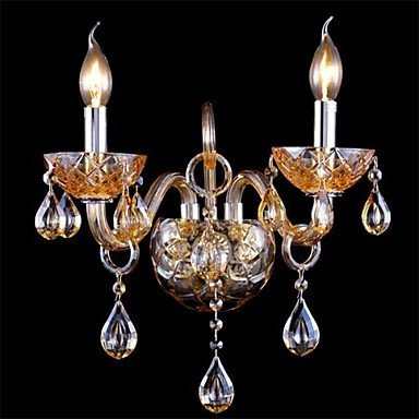 lampe de mur de cristal ambre