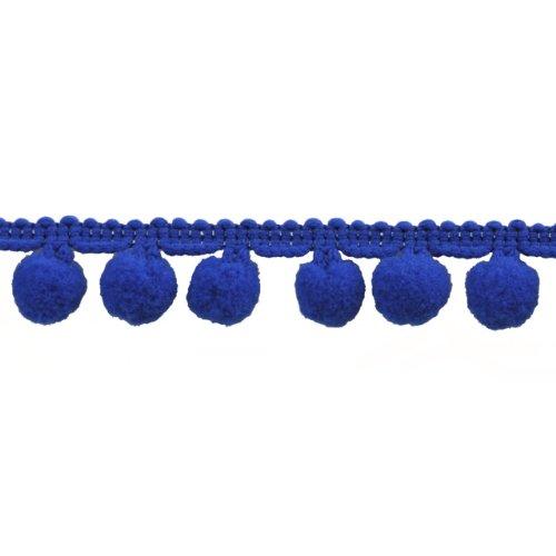 For Sale! Pompom Fringe 1-Inch Polyester Fringe Rolls for Arts and Crafts, 10-Yard, Navy