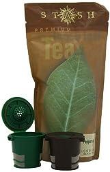 Stash Loose Leaf Peppermint Tea, 1.75-Ounce, 2 Ekobrew's for Keurig Single Serve Brewers(Buy Ekobrew's get 1 Tea Free) from Ekobrands llc